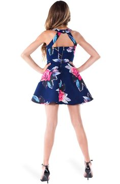 Free shipping and returns on Miss Behave 'Harley' Floral Print Skater Dress (Big Girls) at Nordstrom.com. Colorful blooms erupt across a summery skater dress cut with a twirl-ready skirt and a playful cutout at the halter neckline.