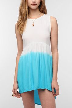 Motel Leyla Dip-Dye Babydoll Dress | http://www.tobi.com/product/47164-motel-leyla-dip-dye-dress?color_id=61647