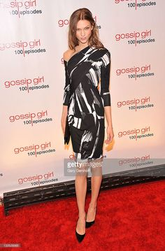 Model Karlie Kloss attends the 'Gossip Girl' 100 episode celebration at Cipriani Wall Street on November 19, 2011 in New York City.