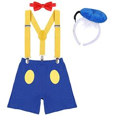 Adjustable Y Braces//Suspender IWEMEK Newborn Infants Baby Boys Toddlers Kids 1st 2nd Birthday Cake Smash Photo Props 3PCS Outfits Shorts Bow Tie
