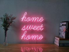 Home Sweet Home Custom Dimmable LED Neon Signs for Wall Decor (Customization Options: Color, Size, D Neon Sign Bedroom, Home Decor Bedroom, Bedroom Wall, Glam Bedroom, Diy Bedroom, Cute Dorm Rooms, Cool Rooms, Sweet Home, Light Up Signs