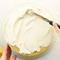 Vegan Lemon Cake with Lemon Frosting + VIDEO   Mindful Avocado Vegan Lemon Cake, Vegan Frosting, Mindful, Icing, Avocado, Desserts, Food, Tailgate Desserts, Deserts