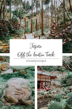 Du möchtest in Japan abseits der Touristenpfade unterwegs sein und Dinge sehen, die herkömmliche Touristen normalerweise nicht zu Gesicht bekommen? Orte, die du in keinem Reiseführer findest und höchstens mit japanischen Ausflüglern teilen musst? Dann lass uns in Japan off the beaten Track unterwegs sein und gemeinsam 5 außergewöhnliche Plätze, in Tokio, Kyoto und Osaka entdecken. Japan Travel Guide, The Beautiful Country, Travel Inspiration, Asia, Track, Outdoor, Culture, Explore, Kyoto