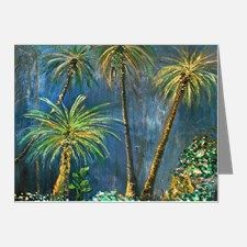 Tropical Palm Tree Garden Note Cards (Pk of 20) for