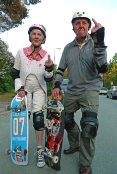 Never too old to skate!