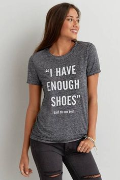 """AEO Shoes Graphic T-Shirt  by AEO 