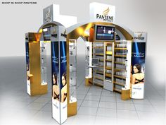 Point of Sale   Health & Beauty Point of Purchase Design   POP   POSM   POS   POP  Shop in shop PANTENE