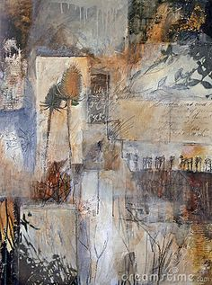 Mixed media painting with nature details by Waxart, via Dreamstime