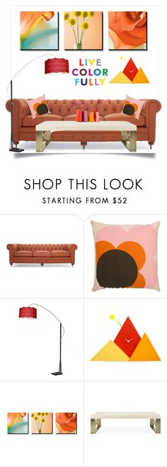 """""""Home"""" by southindianmakeup1990 ❤ liked on Polyvore featuring interior, interiors, interior design, home, home decor, interior decorating, Joybird, Orla Kiely and Progetti"""