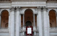 Pope Francis stands at the balcony of St. John's in Lateran basilica after celebrating a solemn mass in Rome April 7, 2013. The pontiff officially took possession of the basilica which is his cathedral in his capacity as bishop of Rome.