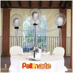 tavolo d'onore con palloncini decorazione matrimonio originale tavolo degli sposi wedding decor