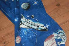 Your place to buy and sell all things handmade Apollo Missions, Vintage Curtains, Neil Armstrong, Space Race, Retro Fabric, Space Theme, Out Of This World, Spaceships, Daydream
