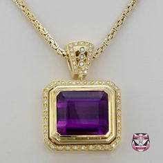 Vintage Amethyst And Diamond Necklace