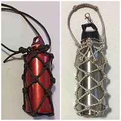 Paracord water bottle wrap with diamond design and a adjustable leash