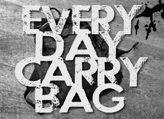 Pt. 1: What is an every day carry bag?