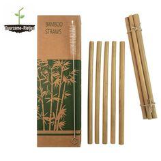 Deze bamboe rietjes zijn gemaakt van 100% natuurlijke bamboe. De bamboe rietjes zijn afgewerkt met een voedselveilige lak tegen splinters. Inclusief schoonmaakborstel Lak, Tableware, Dinnerware, Dishes, Serveware