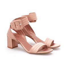 Xabell Satin Sandal Bisque Pink Silk, Silk Satin, Bag Making, Block Heels, Sandals, Elegant, Chic, Leather, How To Wear