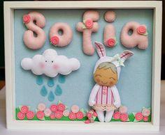 Именное панно из фетра для Софи   Детские мечты