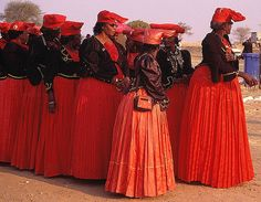 Africa | Women attending the annual Herero Festival (a celebration of independence and culture). Namibia | © Christopher Meder