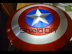 how to make a captain america shield out of cardboard