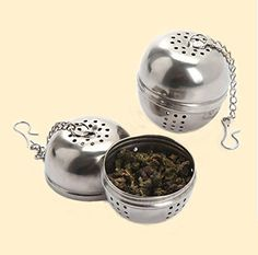 NEW Stainless Steel Tea Locking Spice Egg Shaped Balls Filter *** Want additional info? Click on the image.