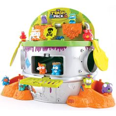 I like toys that help you do something with your collectibles rather than just collect them. The Trash Pack Scum Drum playset is designed so you can fire your Trashies at targets and into the bin. If only all tidying up was this much fun.