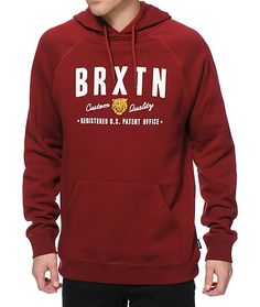 "Improve your comfort with a soft fleece lining and raglan sleeves with a white ""BRXTN"" text and tiger logo graphic at the chest."
