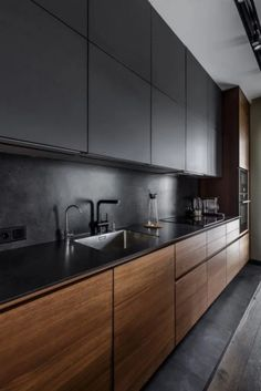 53 Favorite Modern Kitchen Design Ideas To Inspire. When it comes to designing the modern kitchen, people typically take one of two design paths. The first path uses modern art as inspiration to creat. Modern Kitchen Interiors, Home Decor Kitchen, Interior Design Kitchen, New Kitchen, Kitchen Ideas, Kitchen Modern, Kitchen Inspiration, Kitchen Contemporary, Awesome Kitchen