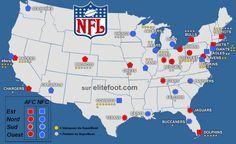 NFL Football Divisions | ... palmares par equipes classement par divisions les superbowls
