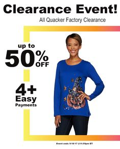 9f08063b62a5c3 Don t be spooked!! Clearance EVENT! All Quacker Factory Clearance up to