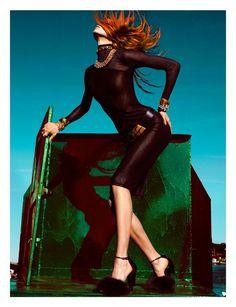 modern day catwoman?  Karlie Kloss by Greg Kadel
