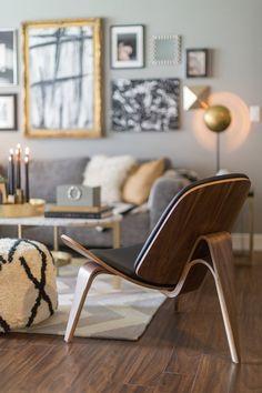 Designer - Jessie D. Miller   Photographer - Megan Thiele Modern & Contemporary Living Room Design