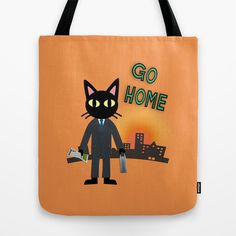 Go Home Tote Bag by BATKEI