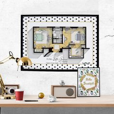Gossip Girl Apartment Floor Plan   TV Show Floor Plan  Blair Waldorf And  Serena Van Der Woodsenu0027s Bedroom Plan/ Glam Poster