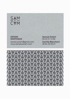 SAM+CAM / #businesscards #logotype 패턴, 타이포