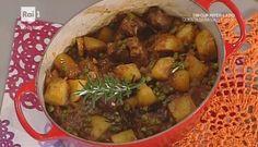 La prova del cuoco | Ricetta spezzatino con patate e piselli di Anna Serpe