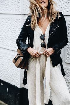 Motorcycle Jacket || Winter Fashion || Outfit Ideas || Winter Coat || Falling for Beige