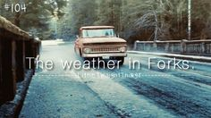 The weather in Forks, Washington. Twilight Series, Qoutes, Forks Washington, Vampires, Weather, Friends, Life, Quotations, Amigos