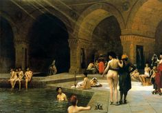 The Large Pool of Bursa - Jean-Leon Gerome