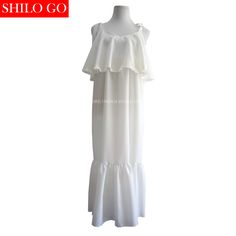 SHILO GO Korea Chic style new fashion summer women high quality beach holiday bow suspenders sexy cute fishtail dress in white