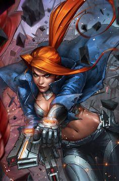 """comic-book-ladies: """"Elsa Bloodstone by JeeHyung Lee """""""