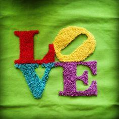 Love con aguja mágica  Fácil y sencillo