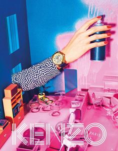 « After a countdown week of teaser Gifs, we are excited to finally reveal the Kenzo Fall/Winter 2014 campaign, our third collaboration with the trio from Toiletpaper Magazine! The Kenzo Fall-Winter 2014 campaign takes us on a mysterious journey to an. Kenzo, Fashion Advertising, Advertising Campaign, Advertising Ideas, Trippy Photos, Saul Bass, Poster Design, Graphic Design, Red Design