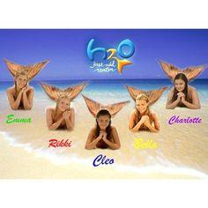 Emma, Rikki, Cleo, Bella, and Charlotte. H2o Mermaids, Mermaids And Mermen, Rikki H2o, H2o Mermaid Tails, Disney Channel, Film Disney, Mermaid Pictures, Phoebe Tonkin, Merfolk