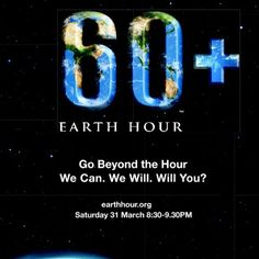 Earth Hour's 2012 official poster. Just need one hour...