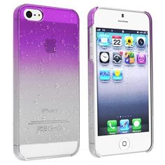 eForCity Clear Purple Waterdrop Raindrop Hard Case Compatible with Apple iPhone 5 (886610549500) This snap-on case for Apple® iPhone® 5 will protect your cell phone against dust and scratches Extremely tough, durable case molds perfectly to your iPhone®'s shape without compromising usability. Provides easy access to all functions without removing the case. Color: Clear Purple Waterdrop Material: Hard plastic Accessory Only, iPhone® 5 NOT INCLUDED. Apple® iPod®, iPhone®, or iPad® are ...