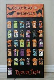 Cute Halloween count down {tutorial} Also great for Christmas