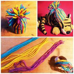 Hat for small tiger, wool, DIY | Kulich pro plyšového tygra, vlna, DIY #hat #kulich