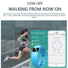 Smart Fitness Wristband Bluetooth 4.0 IP67 Waterproof Health Bracelet Sports  #Unbranded