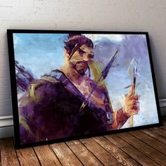 Overwatch Poster. Overwatch Hanzo Painting Print.  #painting #art #darksouls #ziggystardust #dustedpixels #gameroom #titanfall #video #overwatch #game